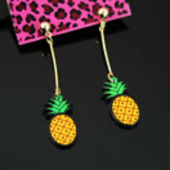 Betsey Johnson Jewelry - Betsey Johnson PINEAPPLE Earrings